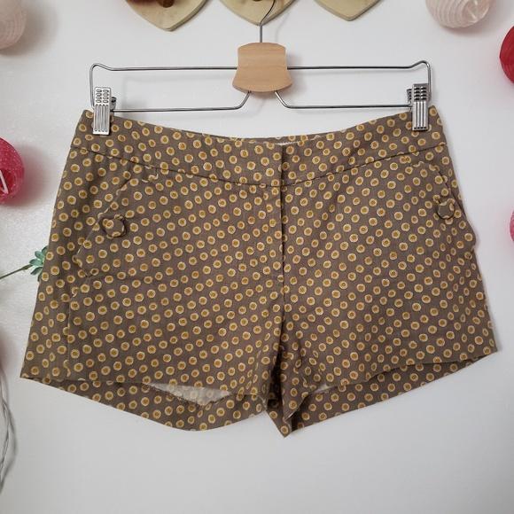 J. Crew Pants - J. CREW tan shorts with circle prints 2